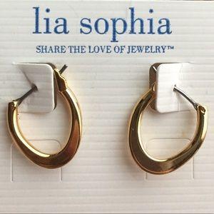 Lia Sophia Hoop Earrings